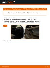 Wie der Wechsel durchführt wird: Fensterheber 2.8 VR6 Golf 3 tauschen