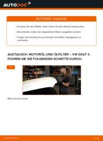 Wie der Wechsel durchführt wird: Ölfilter 2.8 VR6 Golf 3 tauschen