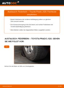 Wie der Wechsel durchführt wird: Stoßdämpfer 3.0 D-4D Toyota Prado J120 tauschen