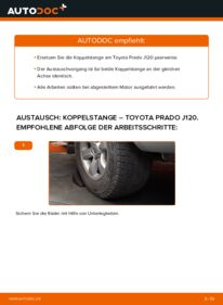 Wie der Wechsel durchführt wird: Koppelstange 3.0 D-4D Toyota Prado J120 tauschen