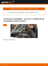 Wie der Wechsel ausgeführt wird: Keilrippenriemen beim VW GOLF