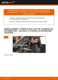 Comment effectuer un remplacement de Pompe à Eau + Kit De Distribution sur 2.8 VR6 VW Golf III
