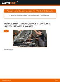 Comment effectuer un remplacement de Courroie Trapézoïdale à Nervures sur 2.8 VR6 VW Golf III