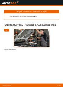 Så byter du Multirem på 2.8 VR6 Golf 3