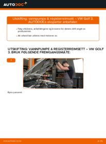Slik bytter du Vannpumpe + Registerreimsett på VW GOLF