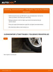 Slik bytter du Bremsetrommel på VW GOLF