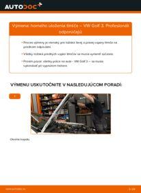 Ako vykonať výmenu: Horné Uloženie Tlmiča na 2.8 VR6 Golf 3