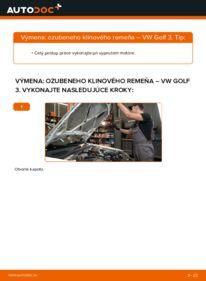 Ako vykonať výmenu: Klinový rebrovaný remen na 2.8 VR6 Golf 3
