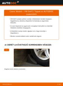Hogyan végezze a cserét: VW GOLF Fékdob