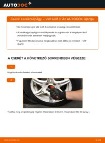 Hogyan végezze a cserét: VW GOLF Kerékcsapágy