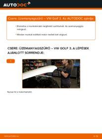 Hogyan végezze a cserét: VW GOLF Üzemanyagszűrő