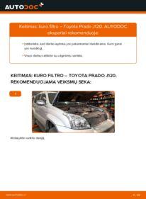 Kaip atlikti keitimą: 3.0 D-4D Toyota Prado J120 Kuro filtras