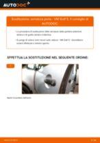 Come cambiare serratura porta della parte anteriore su VW Golf 5 - Guida alla sostituzione