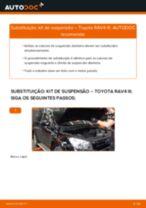 Como mudar e ajustar Amortecedor de suspensão TOYOTA RAV4: tutorial pdf