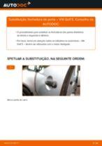 Como mudar fechadura de porta da parte dianteira em VW Golf 5 - guia de substituição