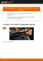 Gyújtótrafó-csere VW Golf 5 gépkocsin – Útmutató