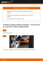 TOYOTA gale dešinė Pasukimo trauklė keitimas pasidaryk pats - internetinės instrukcijos pdf