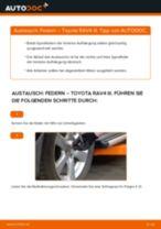 Schritt-für-Schritt-PDF-Tutorial zum Handbremsseil-Austausch beim Toyota Avensis T25 Kombi