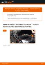 Comment changer : bougies d'allumage sur Toyota RAV4 III - Guide de remplacement
