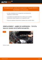 PDF manuel de remplacement: Amortisseur TOYOTA RAV 4 III (ACA3_, ACE_, ALA3_, GSA3_, ZSA3_) arrière + avant