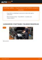 Skifte Luftfilter TOYOTA RAV4: gratis pdf