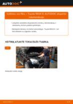 TOYOTA RAV4 Variklio oro filtras keitimas: nemokamas pdf