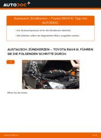 Wie der Wechsel durchführt wird: Zündkerzen 2.2 D 4WD (ALA30_) Toyota RAV4 III tauschen