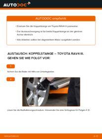 Wie der Wechsel durchführt wird: Koppelstange 2.2 D 4WD (ALA30_) Toyota RAV4 III tauschen