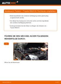 Wie der Wechsel durchführt wird: Federn 2.2 D 4WD (ALA30_) Toyota RAV4 III tauschen