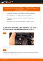 Motorölfilter VW Golf IV Schrägheck (1J1) 2012 | PDF Anleitung zum Wechsel