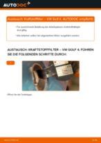 Anleitung: VW Golf 4 Kraftstofffilter wechseln