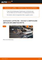 Anleitung: VW Golf 4 Luftfilter wechseln