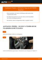 Einbau von Stoßdämpfer Feder beim VW GOLF IV (1J1) - Schritt für Schritt Anweisung