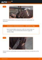 Wie Wischerblätter VW GOLF wechseln und einstellen: PDF-Leitfaden