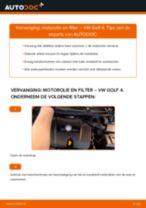 VW GOLF Oliefilter motor vervangen: online instructies