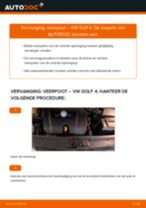 Hoe veerpoot vooraan vervangen bij een VW Golf 4 – Leidraad voor bij het vervangen