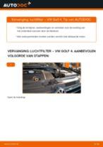 Gratis handleiding voor het Luchtfilter vernieuwen VW GOLF IV (1J1)