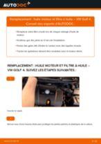 Manuel en ligne pour changer vous-même de Filtre à Huile sur VW GOLF IV (1J1)