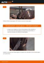 Comment changer Jeu de balais d'essuie-glace arrière et avant VW GOLF IV (1J1) - manuel en ligne