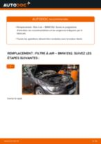 Changement Filtre à Air BMW 3 SERIES : manuel d'atelier