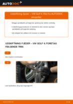 Udskiftning af Fjedre bag og foran VW gør det selv - online manualer pdf