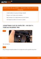 Udskift motorolie og filter - VW Golf 4 | Brugeranvisning