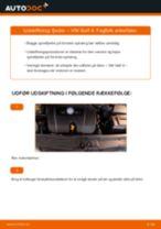 Skifte Fjeder VW GOLF: værkstedshåndbog