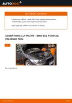 Udskift luftfilter - BMW E92   Brugeranvisning