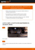 Cambio Muelles delanteras izquierda derecha VW bricolaje - manual pdf en línea