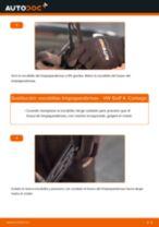 Cómo cambiar y ajustar Escobillas de parabrisas VW GOLF: tutorial pdf