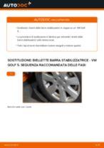 Cambio Asta puntone stabilizzatore posteriore e anteriore VW da soli - manuale online pdf