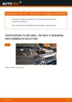 VW GOLF IV (1J1) Filtro aria motore sostituzione: consigli e suggerimenti
