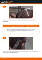 Come cambiare è regolare Spazzola tergi VW GOLF: pdf tutorial