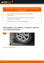 How to change rear coil springs on VW Golf 5 – replacement guide